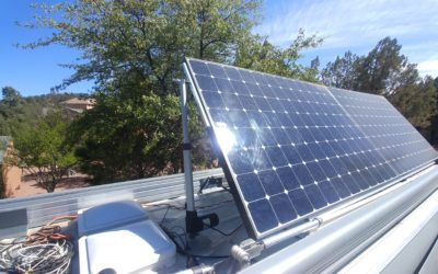 Powered-tilt Solar Panels / Wifi Repeater Antenna